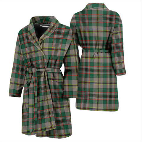 Craig Ancient Bathrobe - Men Tartan Plaid Bathrobe Universal Fit