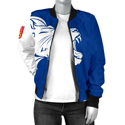 The Lion In Finland Women's Bomber Jacket - BN12