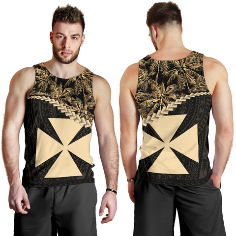 Wallis And Futuna Men's Tank Top Golden Coconut | Love The World