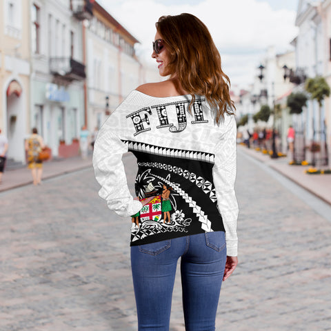 Fiji Women Off Shoulder Sweater - Road to Hometown K4