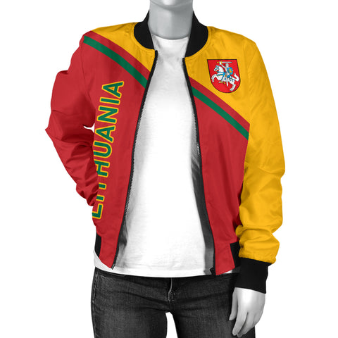 Lithuania Women's Bomber Jacket  - Curve Version - BN01