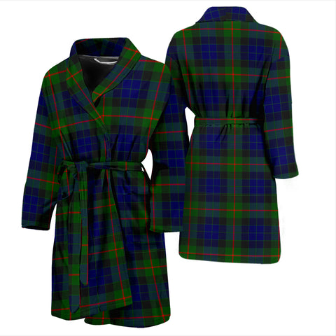 Image of Gunn Modern Bathrobe - Men Tartan Plaid Bathrobe Universal Fit