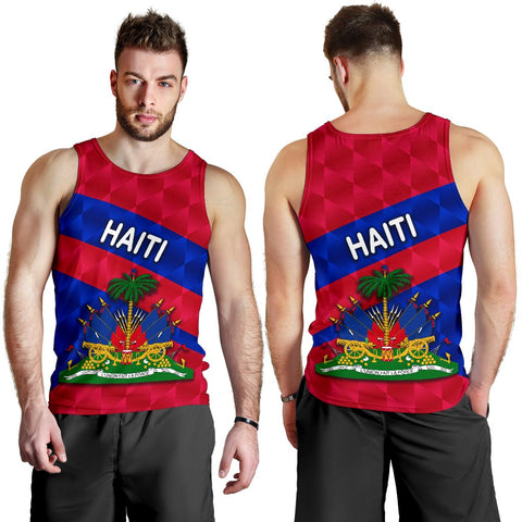 Haiti Men Tank Top Sporty Style K8