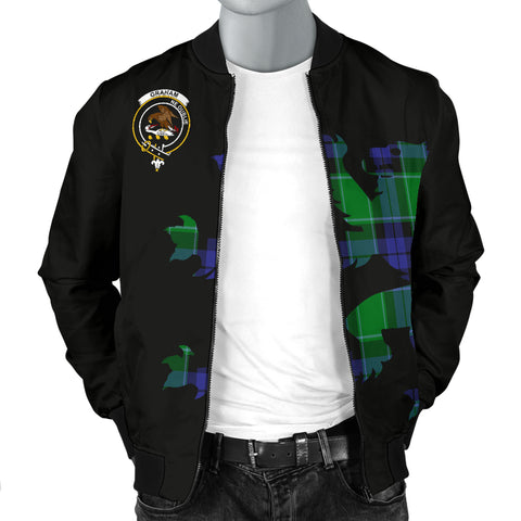 Image of Graham Tartan Lion And Thistle Bomber Jacket for Men TH8