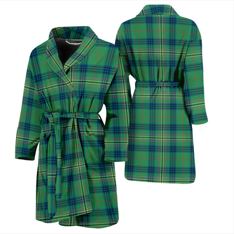 Kennedy Ancient Bathrobe - Men Tartan Plaid Bathrobe Universal Fit