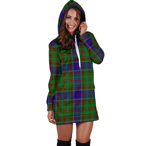 Image of Adam Tartan Hoodie Dress HJ4