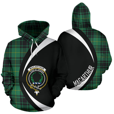 Image of MacArthur Ancient Tartan Circle Hoodie