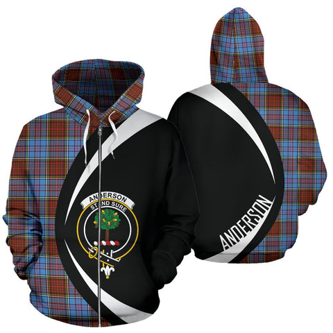 Anderson Modern Tartan Circle Zip - Up Hoodie HJ4