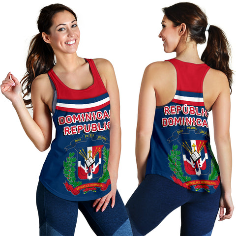 Dominican Republic Women Racerback Tank - Vibes Version K8