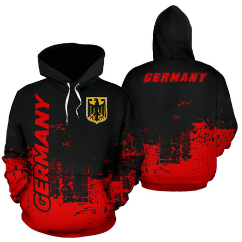Germany All Over Hoodie - Smudge Style Back