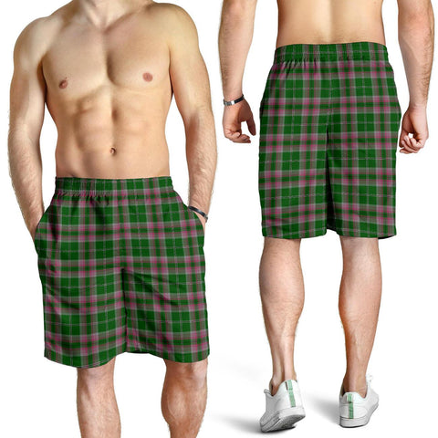Image of Gray Hunting Tartan Shorts For Men TH8