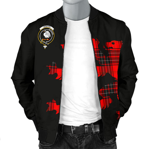 Wemyss Tartan Lion And Thistle Bomber Jacket For Men Th8