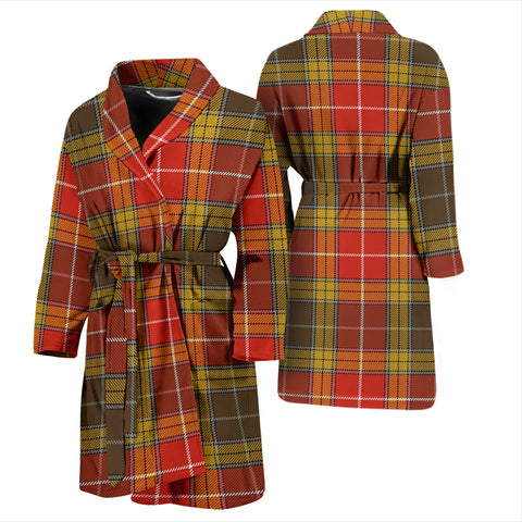 Buchanan Old Set Weathered Bathrobe - Men Tartan Plaid Bathrobe Universal Fit