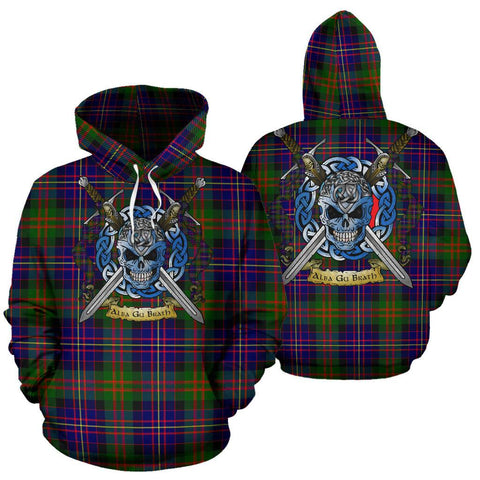 Image of Cameron of Erracht Modern Tartan Hoodie Celtic Scottish Warrior A79 | Over 500 Tartans | Clothing | Apaprel