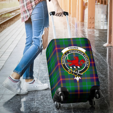 Young Tartan Clan Badge Luggage Cover Hj4 | Love The World