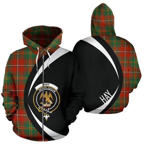 Image of Hay Ancient Tartan Circle Zip Hoodie HJ4
