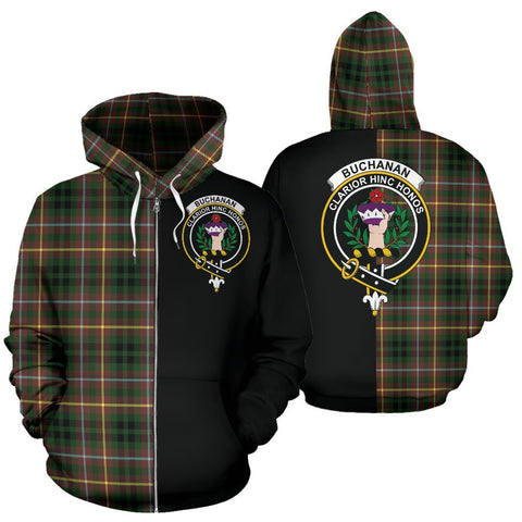 (Custom your text) Buchanan Hunting Tartan Hoodie Half Of Me TH8