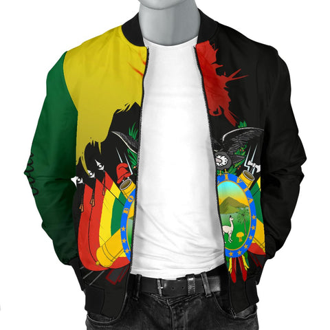 Bolivia Flag-Coat of Arms Men's Bomber Jacket Hoodie A15