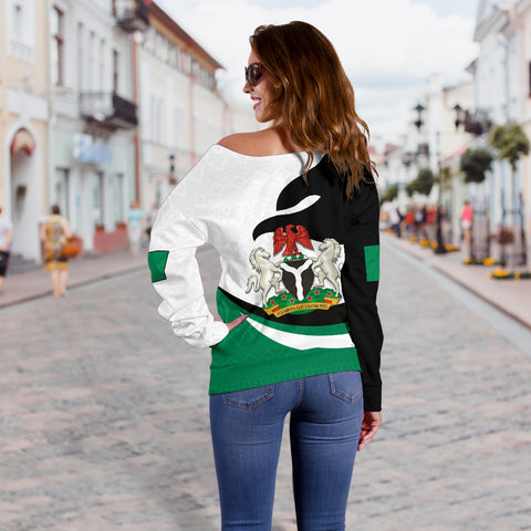 Nigeria Off Shoulder Sweater Proud Version K4