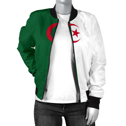 Algeria Women's Bomber Jacket Original Flag A7