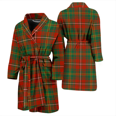 Hay Ancient Bathrobe - Men Tartan Plaid Bathrobe Universal Fit