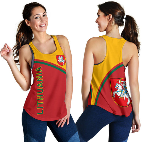 Image of Lithuania Women's Racerback Tank - Curve Version