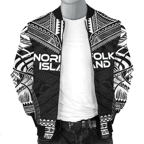 Image of Norfolk Island Polynesian Chief Men's Bomber Jacket - Black Version - Bn10