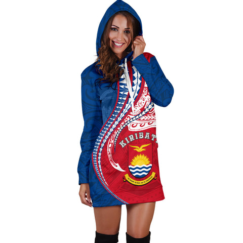 Image of Kiribati Women's Hoodie Dress Kanaloa Tatau Gen KI TH65
