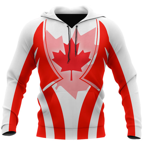 Canada In My Heart Red Maple Leaf Hoodie K2