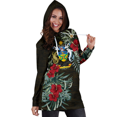 Image of Solomon Islands Hibiscus Hoodie Dress A7