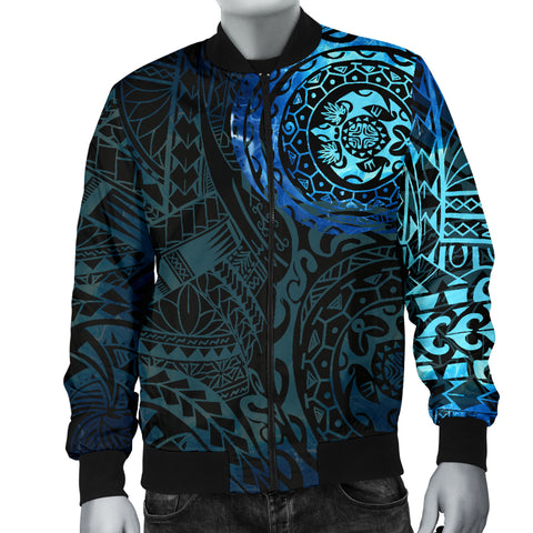 Image of Polynesian Tattoo Style Men's Bomber Jacket Special A7