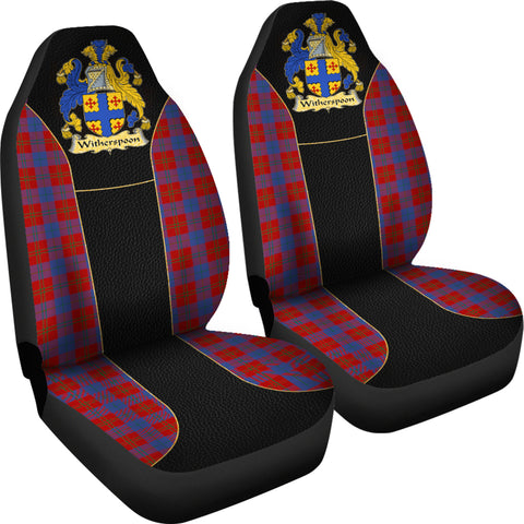 Witherspoon Tartan Car Seat Covers - Golden Clan Badge K9
