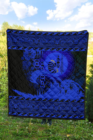 New Caledonia Quilt Wave Blue Design K62