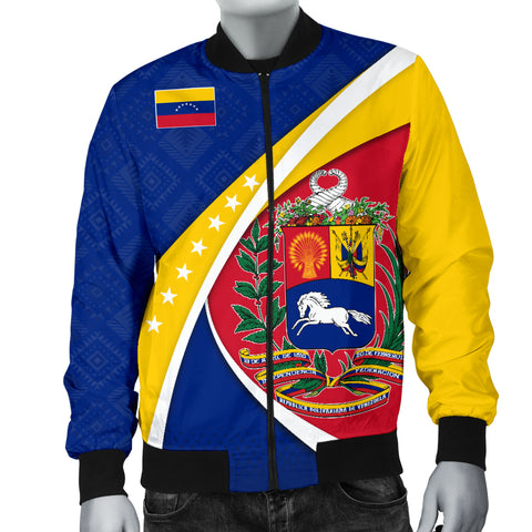 Image of 1stTheWorld Venezuela Bomber Jacket, Venezuela Coat Of Arms Pattern A10