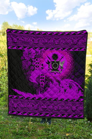 Image of Cook Island Quilt Wave Pureple Design K62