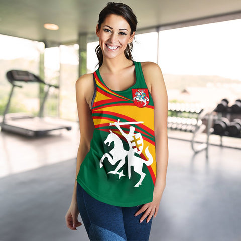 Lithuania Women Racerback Tanks N Flag A15