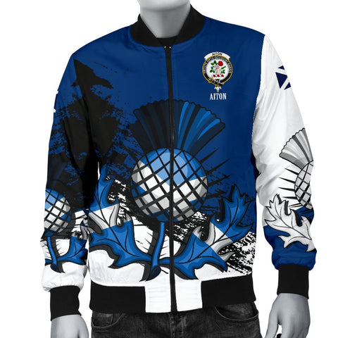 Aiton Crest Scottish Thistle Scotland Men's Bomber Jacket | Clothing | 1sttheworld