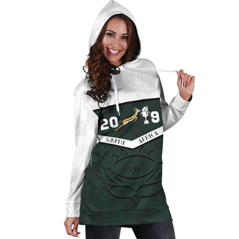 South Africa Springbok Champion 2019 Hoodie Dress 4