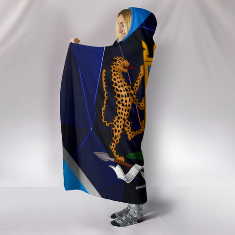 1sttheworld Somalia Hooded Blankets - Coat of Arms Somalia With Leopard - BN17