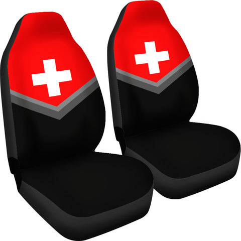 Switzerland Flag Car Seat Cover J9