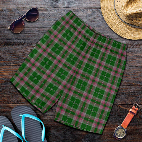 Gray Hunting Tartan Shorts For Men TH8