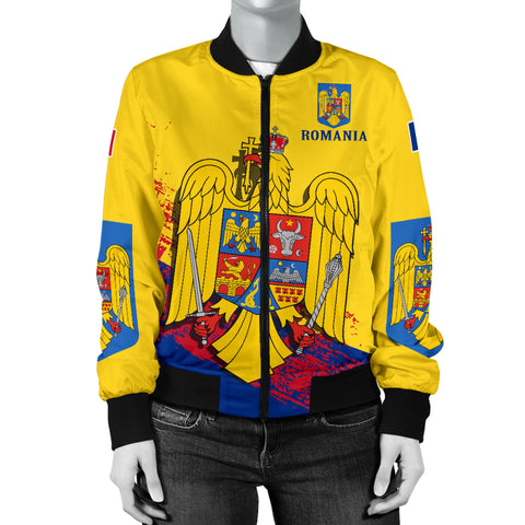 Image of Romania Special Women's Bomber Jacket | Special Design | High Quality