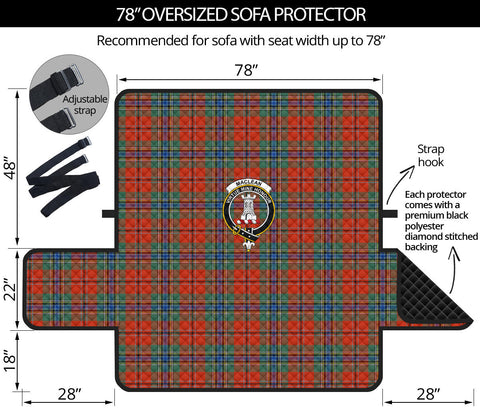 MacLean of Duart Ancient Tartan Clan Badge Oversized Sofa Protector K7