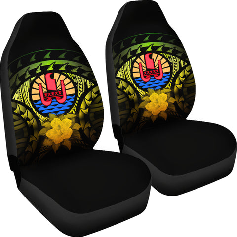 Image of Tahiti Reggae Hibiscus Car Seat Covers | Love The World