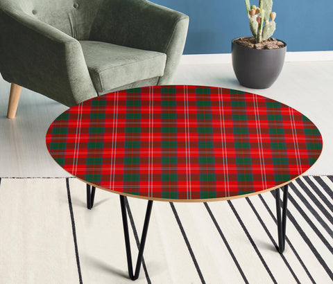 Chisholm Modern Tartan Circular Coffee Table - BN