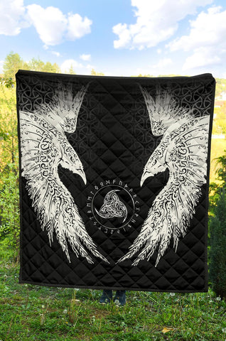 Image of Vikings Quilt Muninn A7