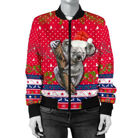 Australia Christmas Aboriginal Women Bomber Jacket Koala Version K13
