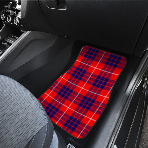 Hamilton Modern Tartan Car Floor Mat 4 Pieces K7