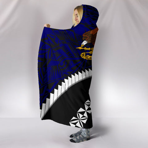 American Samoa Hooded Blanket - Road to Hometown K4