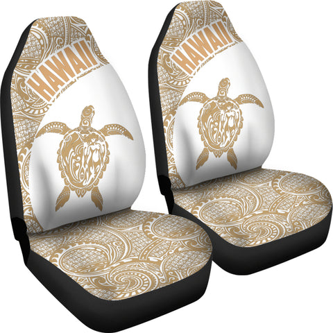 Hawaii Car Seat Covers Turtle Polynesian White Golden Version Th96